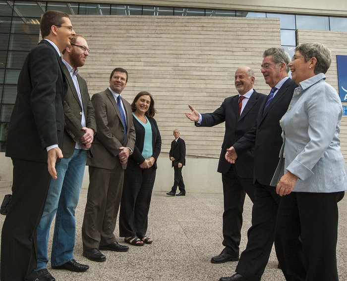 The President of Austria, Heinz Fischer is welcomed to ESO's premises in Santiago