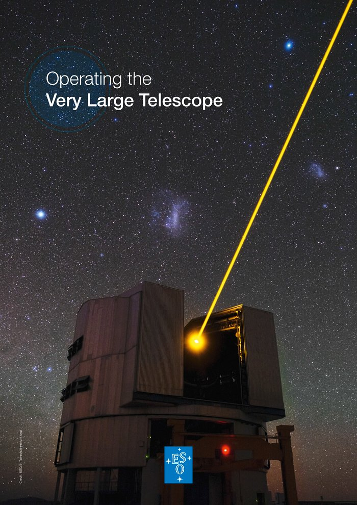 A brochura Operando o Very Large Telescope