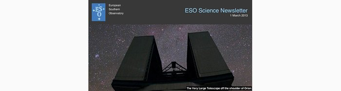 ESO Science Newsletter