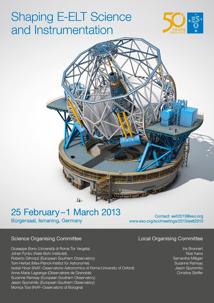 Poster zur Konferenz ¨Shaping E-ELT Science and Instrumentation