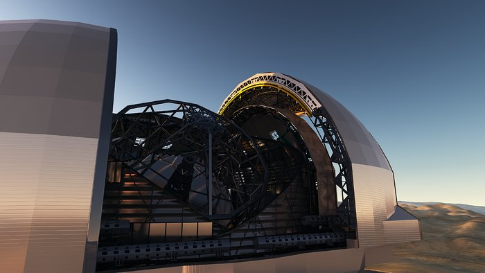 Artist's impression van de European Extremely Large Telescope