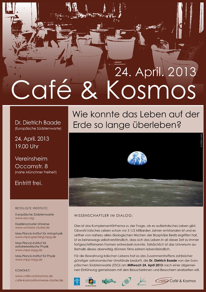 Poster of Café & Kosmos 24 April 2013