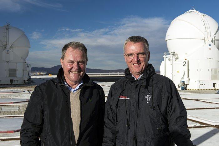 Minister Heubisch und ESO-Generaldirektor Tim de Zeeuw