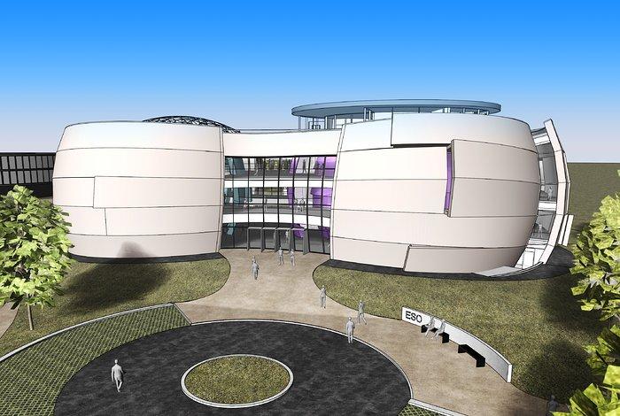 Das neue Planetarium und Ausstellungszentrum am ESO-Hauptsitz