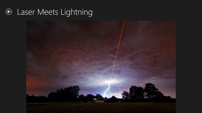 """Captura de ecrã da aplicação para Windows """"European Southern Observatory"""" que mostra uma das imagens apresentadas"""