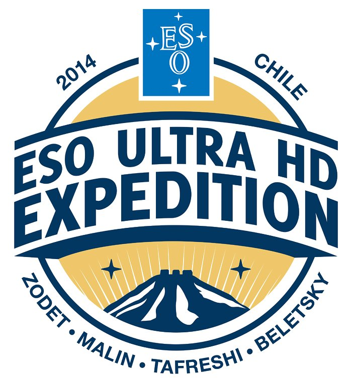 Logotipo da expedição Ultra HD do ESO