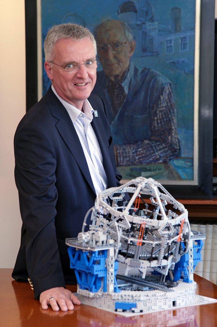 ESO Director General during the LEGO E-ELT Model Handover