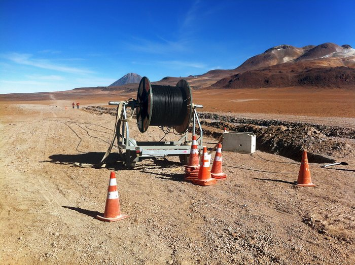 New high-speed fibre optic data link to ALMA