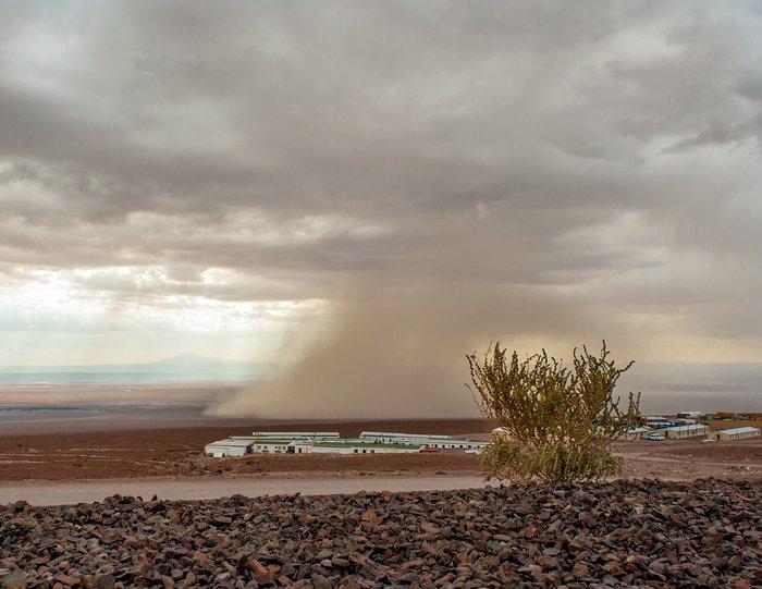 Extreme Wetterbedingungen bei ALMA am 27. Februar 2015