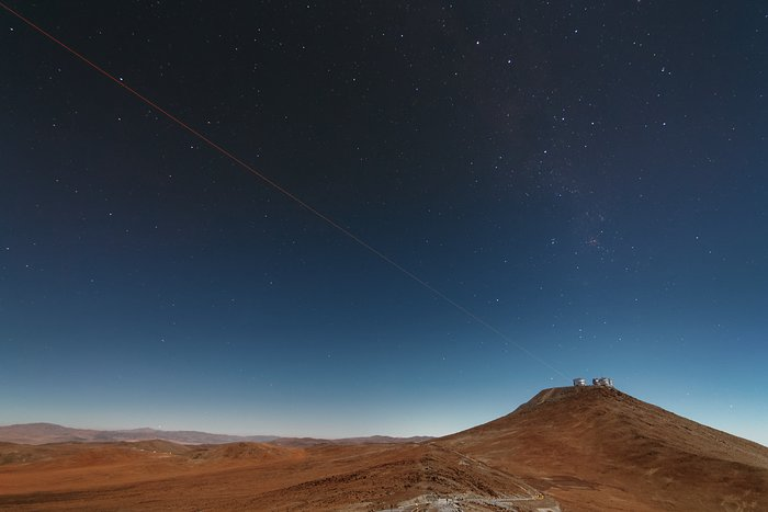 First light of new laser on Adaptive Optics Facility at Paranal