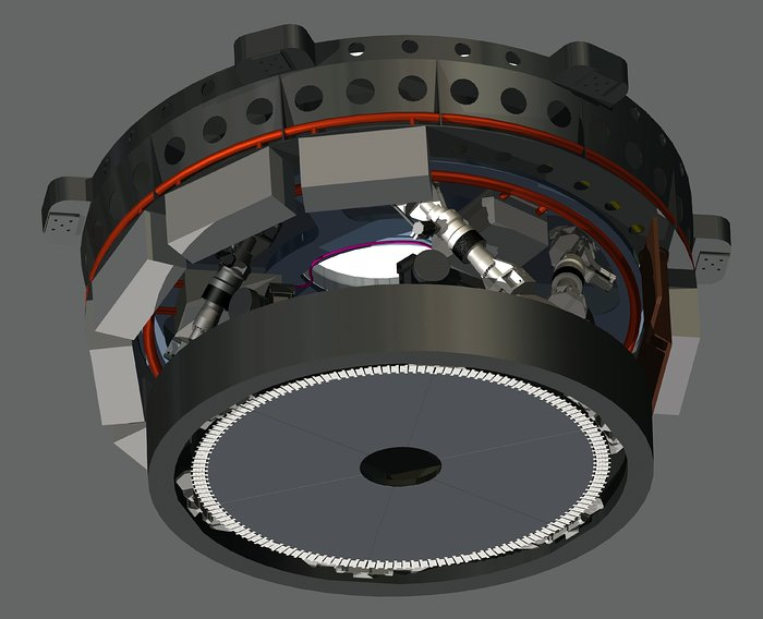 Engineering drawing of E-ELT M4 unit