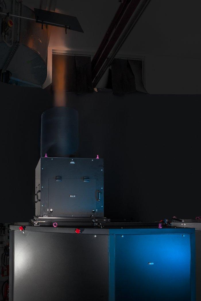 Eine der Einheiten der Four Laser Guide Star Facility für das VLT
