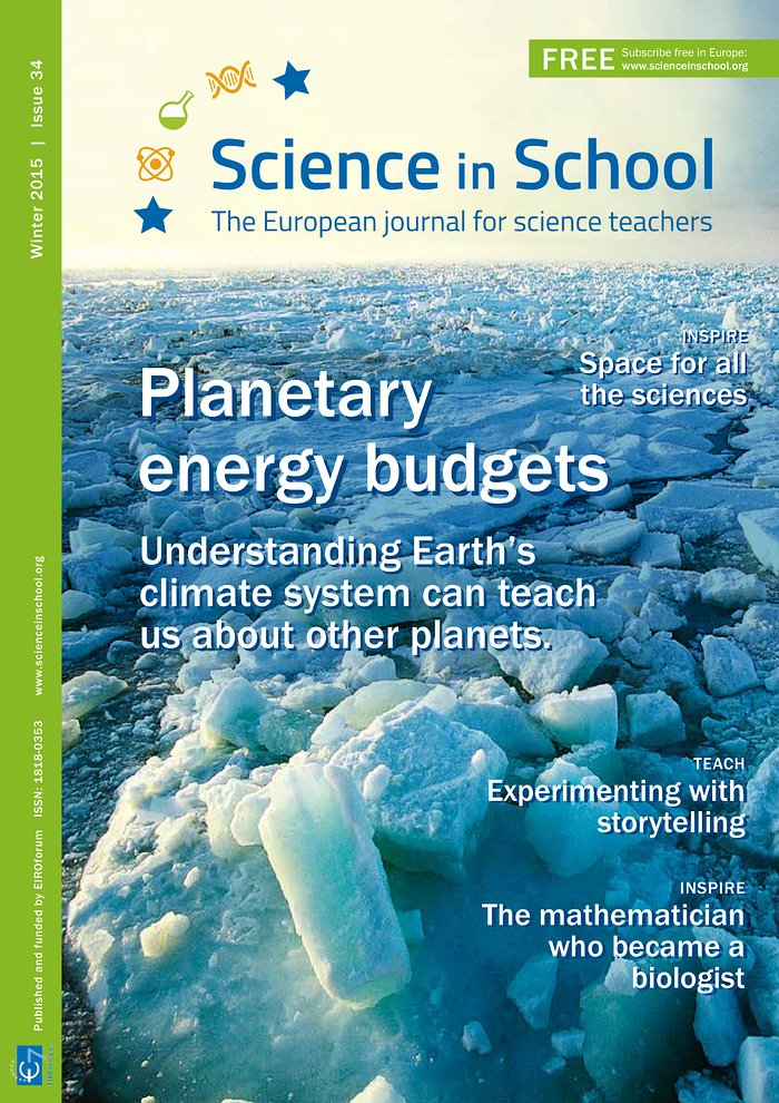 Portada de Science in School edición 34
