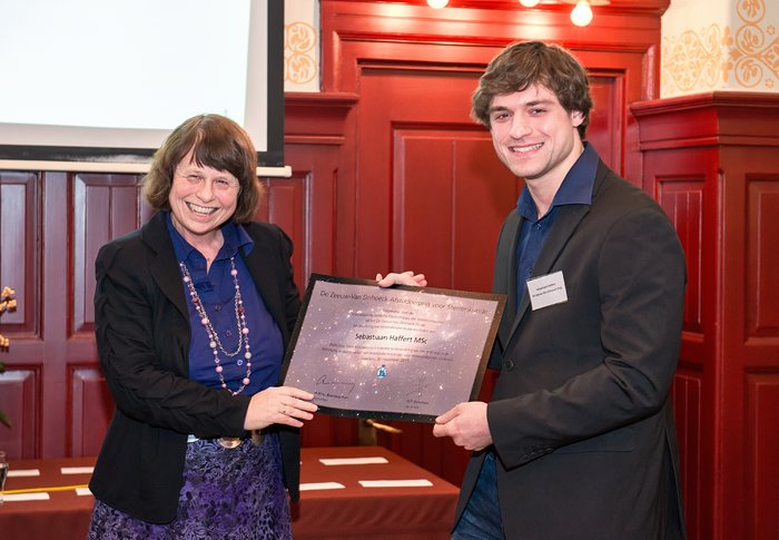 Sebastiaan Haffert wins De Zeeuw–Van Dishoeck Graduation Prize for Astronomy