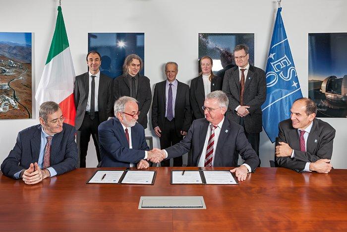 Firman acuerdo para construcción del sistema de óptica adaptativa MAORY del E-ELT