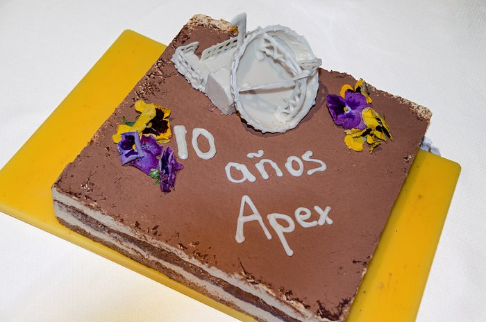 The APEX birthday cake