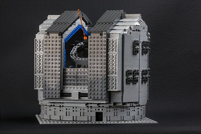 The LEGO® VLT model includes the huge dome