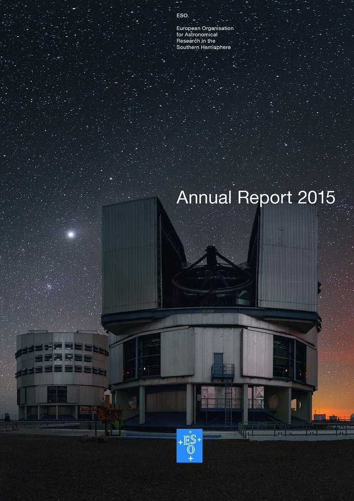 Cover of the Annual Report 2015