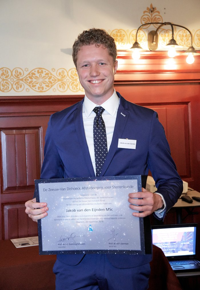 Gewinner des De Zeeuw-Van Dishoeck-Absolventenpreises für Astronomie 2016 bekanntgegeben