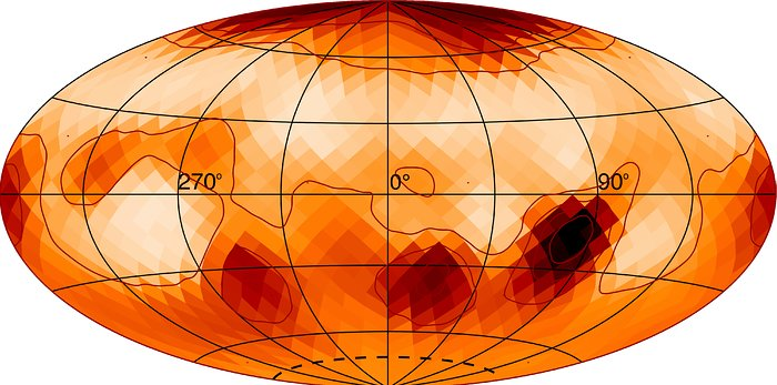 Eine Karte des Sterns Zeta Andromedae