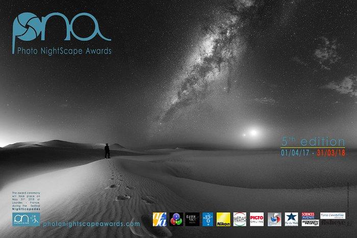 Entrada do Concurso de Fotografia Noturna: Conjunção humana, Via Láctea, Lua e Vénus