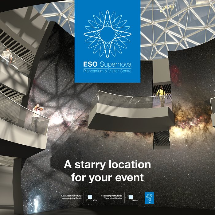 Titelseite der ESO Supernova Planetarium & Visitor Centre events brochure