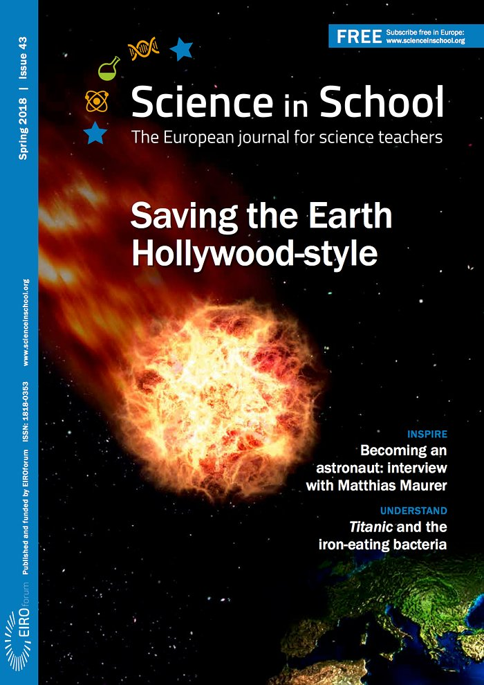 Front cover of Science in School: Issue 43