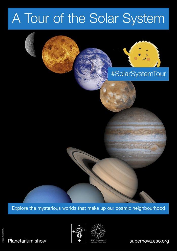 Eine Tour durch das Sonnensystem (Poster auf Englisch)