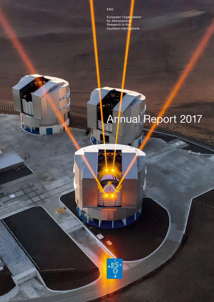 Cover of the ESO Annual Report 2017