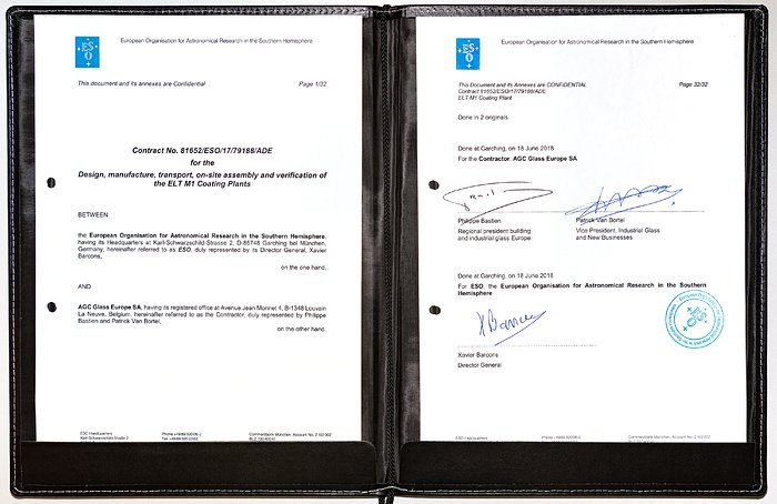 Contract signed for the ELT coating plant