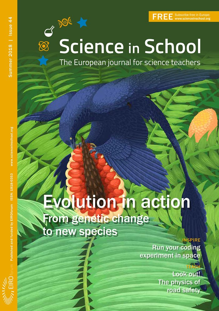 Capa da Science in School nº 44