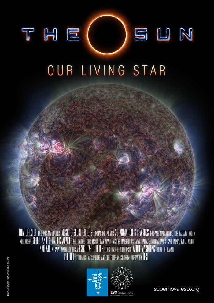 Az Élő csillagunk, a Nap posztere