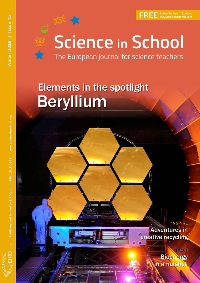 Front cover of Science in School issue 45