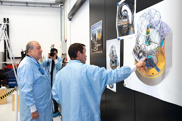 President of Armenia visits ESO Headquarters
