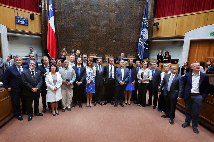 Delegación de ALMA en el Senado de Chile