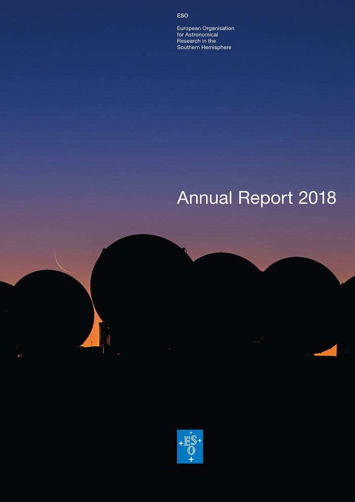 Cover of ESO's Annual Report 2018