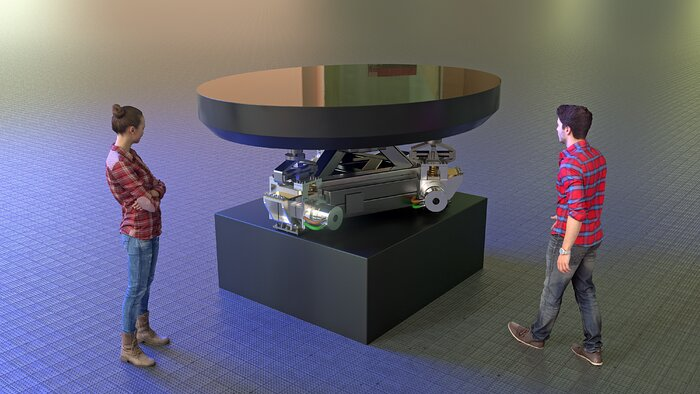 M5 Mirror and Cell Structure rendering