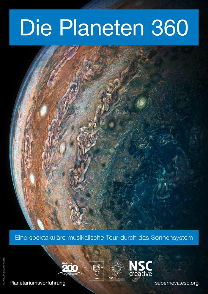 Poszter: Bolygók köröskörül (német)