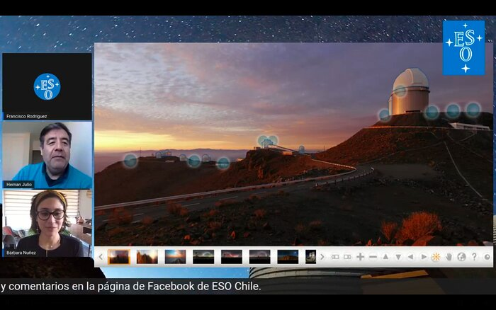 Screenshot of Virtual guided tour of La Silla Observatory