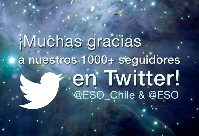 1000 seguidores de @ESO_Chile