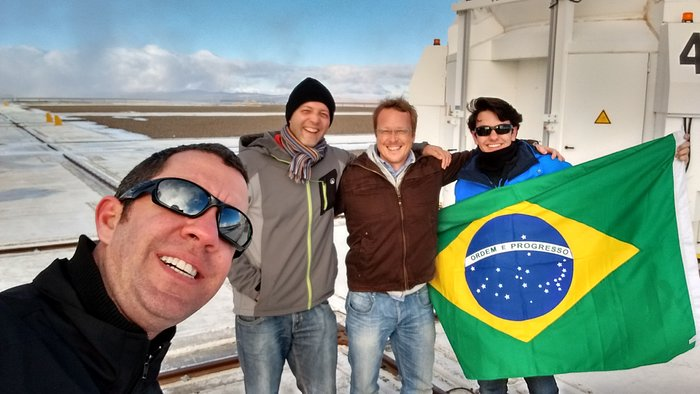 Vencedor da Olimpíada Brasileira de Astronomia e Astronáutica visita o Paranal