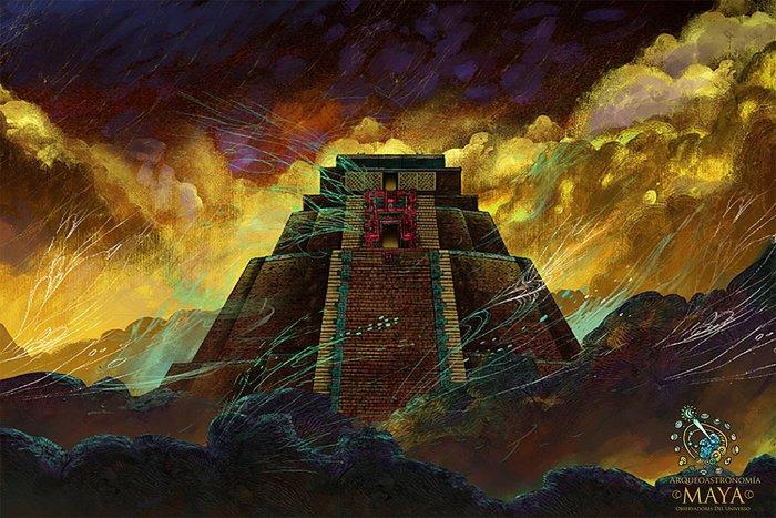 Postcard Arqueoastronomía Maya