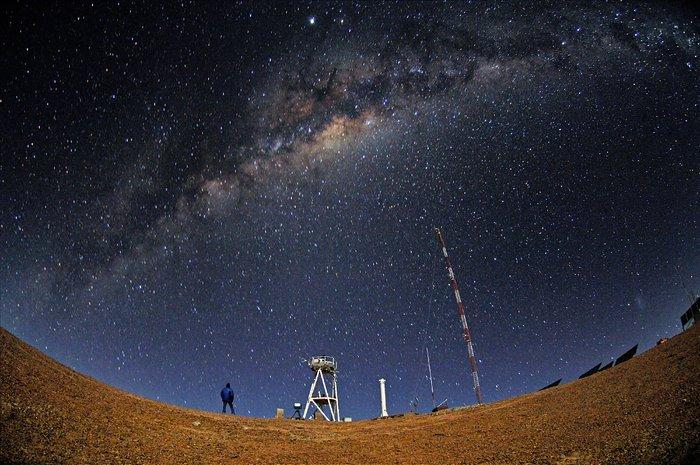 ELT site testing — Cerro Armazones by night
