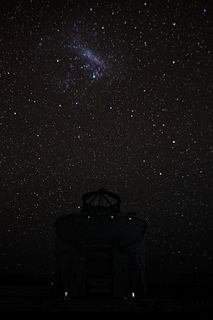 Under the Large Magellanic Cloud