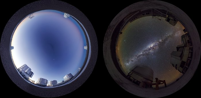 Day and night at Paranal