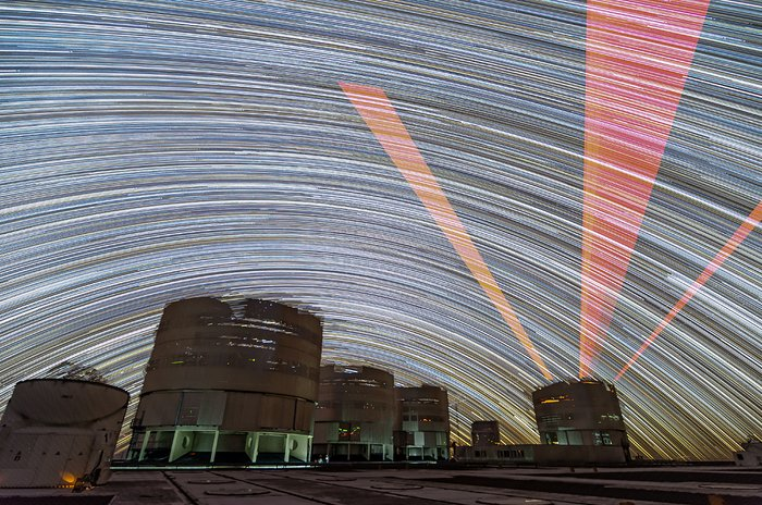 Laser Guide Star trails
