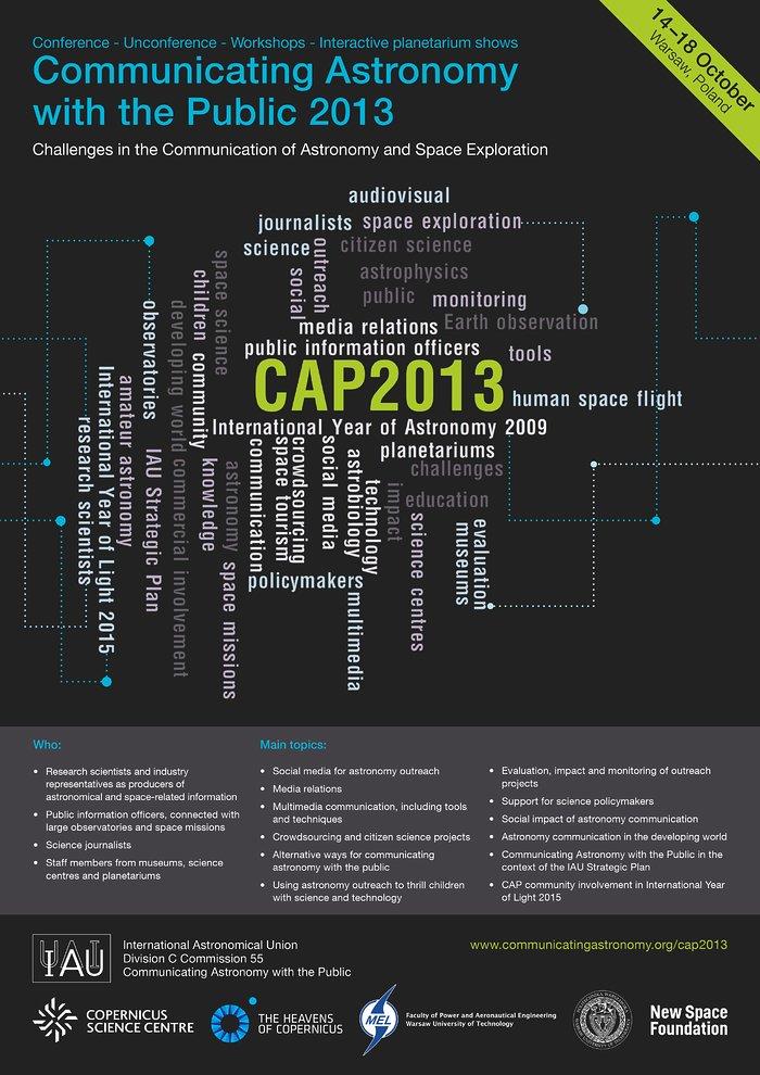 Poster da conferência CAP2013
