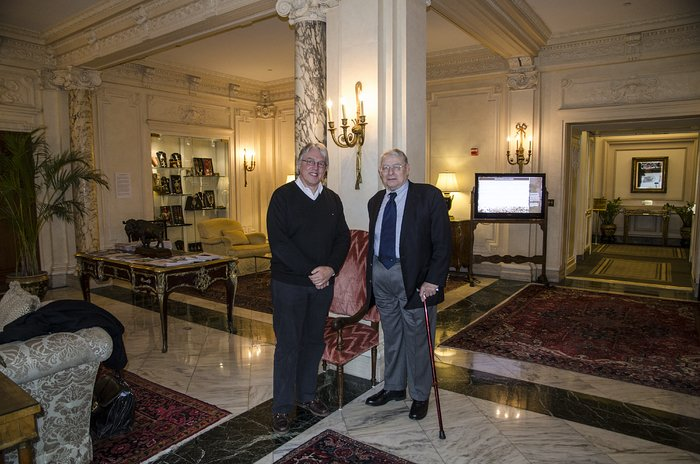 Prof. Riccardo Giacconi with Claus Madsen at the Cosmos Club, Washington