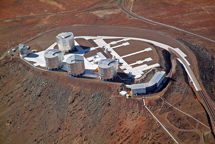 Aerial view of the VLT platform