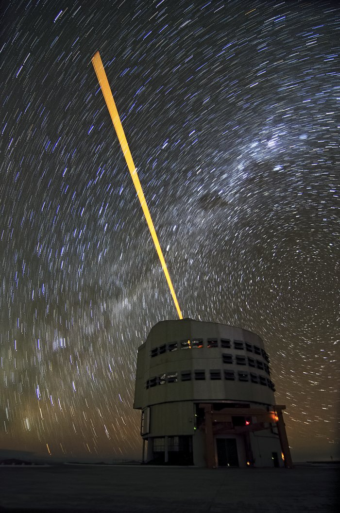 The VLT's Laser Guide Star and star trails